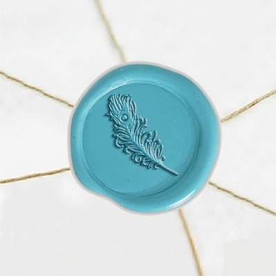 Feather wax stickers  handmade wax seal stickers  Wedding self adhesive wax seal stickers  Wax Seal Stamp